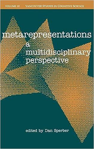 Metarepresentations : a multidisciplinary perspective