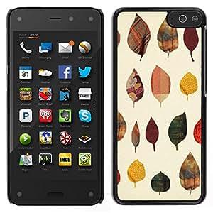 Caucho caso de Shell duro de la cubierta de accesorios de protección BY RAYDREAMMM - Amazon Fire Phone - Patrón de otoño Arte Naturaleza Amarillo