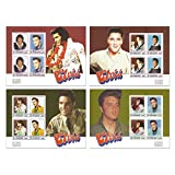 The ultimate Elvis Presley stamp collection with 4 mint stamp sheets featuring the King of Rock and Roll