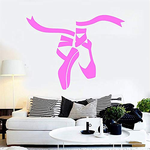 (Quotes Wall Stickers Removable Vinyl Art Decal Ballet Dance Studio Shoes Dance Studio Decoration for Gilrs Bedroom)