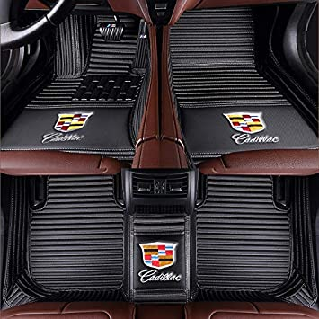 Fit for Cadillac XT4 XT5 XT6 CT6 XTS ATS 2013 2014 2015 2016 2017 2018 2019 2020 All Weather Car-Styling Custom Luxury Leather Waterproof Floor Mats Logo