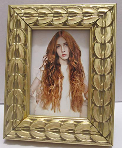 EXP 2.5X3.5 Ornate Gold Leaf Wood Picture Photo Frame