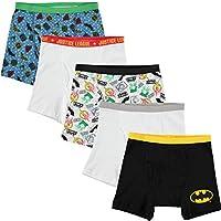Calzoncillos boxer de 5 piezas de Justice League para niños pequeños, surtidos, 6