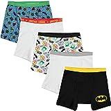 DC Comics Handcraft Little Boys' Justice League 5pk Boxer Briefs, Assorted, 4