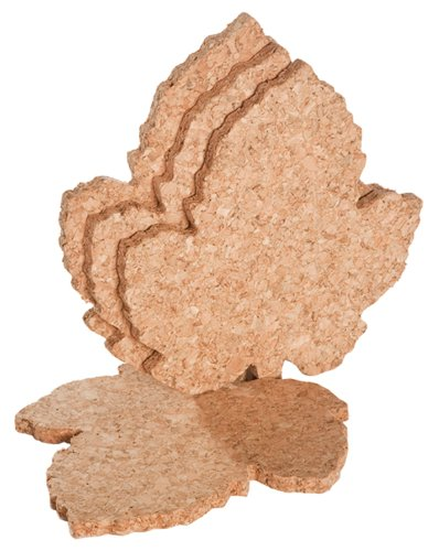 Cork Coaster, Grape Leaf Shape, Set of Ten ()