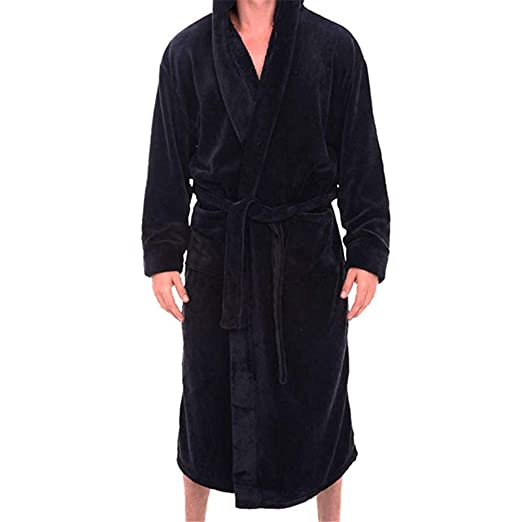 1846f7e9b7 Mens Fleece Solid Colored Spa Robe