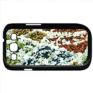 red,yellow,blue,green (Flowers Series) Watercolor style - Case Cover For Samsung Galaxy S3 i9300 (Black)
