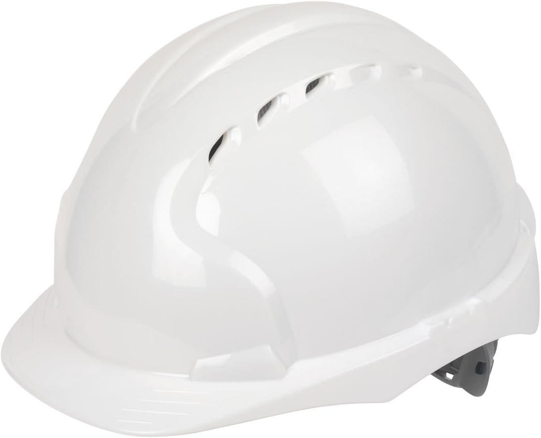 JSP EVO3 Comfort Plus ajustable antideslizante casco de seguridad blanco: Amazon.es: Bricolaje y herramientas