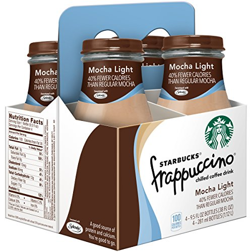 Starbucks Coffee Frappuccino Variety Pack! Mocha Light, Coffee, Chilled Mocha, 9.5 oz Glass Bottles (Pack of 3, Total of 12 Glass Bottles)