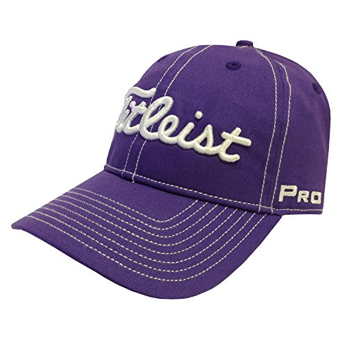 New 2015 Titleist Contrast Stitch Unstructured Hat/Cap COLOR: Purple SIZE: ADJ