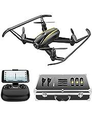 Potensic Drone con cámara 720P HD, RC Quadcopter RTF Altitude Hold, Avión con Control Remoto, Modo sin Cabeza WiFi FPV 2.4Ghz, Aterrizaje y Despegue y Alarma al Fuera de Rango