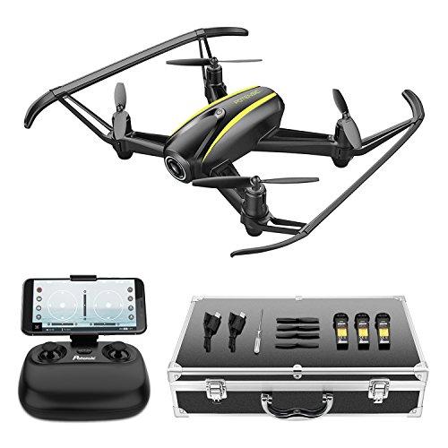 Potensic Drone U36W con Maleta con Control Remoto, Función de Estabilización de Altitud, WiFi FPV 2.4Ghz Cámara HD, Funciones de Aterrizaje y Despegue y Alarma de Fuera Límite de Vuelo Antiperdida