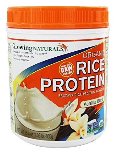 Growing Naturals Prtn Rice Pwdr Vnla Org by Growing Naturals