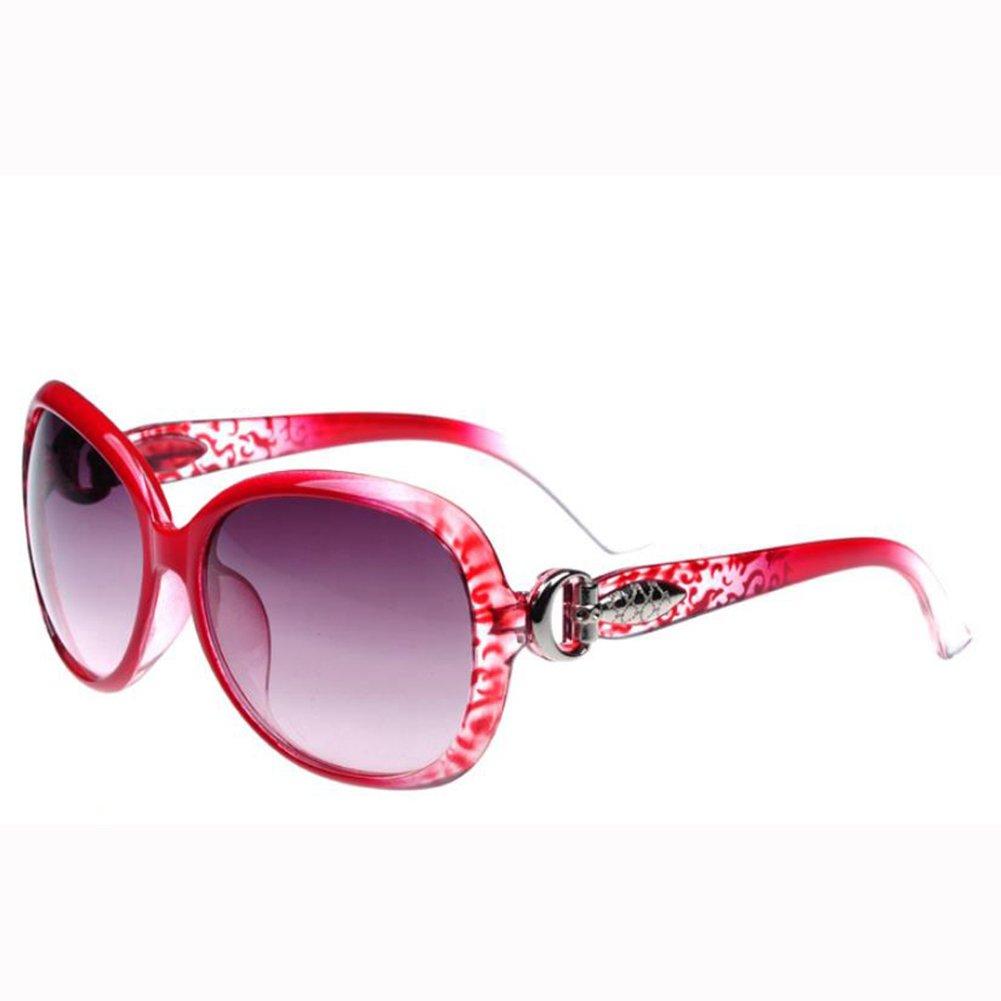 Qingsun Moda Gafas de Sol Fashion Sunglasses Protección de Ojos para Mujer Rojo