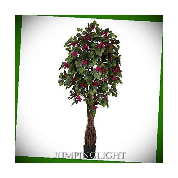 JumpingLight 5343 6′ Multi Vine Bougainvillea Silk Tree Artificial Flowers Wedding Party Centerpieces Arrangements Bouquets Supplies