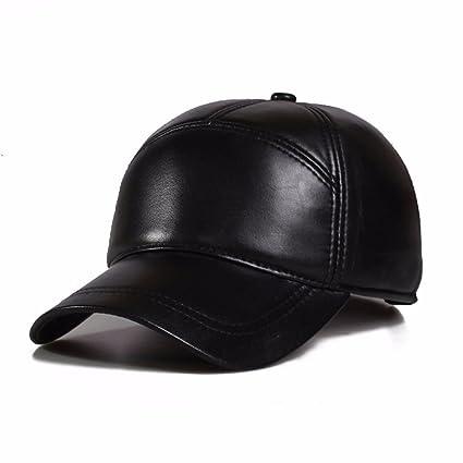 ba49a2ffd Amazon.com: LONFENNENR Adjustable Leather Hat Women Unisex baseball ...