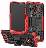 Moto Z3 Case, Moto Z3 Play Case, Yiakeng Dual Layer Shockproof Wallet Slim