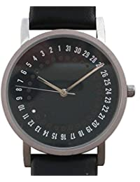 Rare Designer Date Watch Has Unique Method of Showing Date and Time on Dial