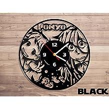 Ponyo anime, Ponyo clock, Ponyo anime art, Studio ghibli vinyl record wall clock