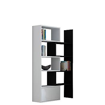 Bücherregal schwarz weiß  Mirjan24 Standregal Bücherregal Paco, Regal, Dekoregal, Aktenregal ...