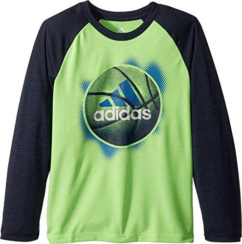 adidas Kids Boy's Logo Sport Ball Tee (Little Kids) Neon Green 6