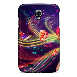 Galaxy High Quality Tpu Case/ Colorful Blossom Case Cover For Galaxy S4
