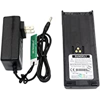 SUNDELY® 5500mAh Li-ion Battery + Smart Charger + Belt Clip for Motorola Radio GP1200 HT6000 MTS2000 MTX838 JT1000 NTN7143 NTN7144