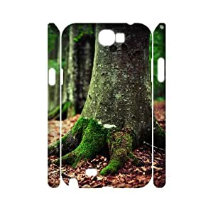 3D Doah Woods Samsung Galaxy Note 2 Case Woods, {White}