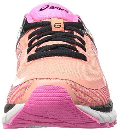 ASICS Women's Gel-Kinsei 6 Running Shoe, Peach Melba/Silver/Pink Glow, 5 M US