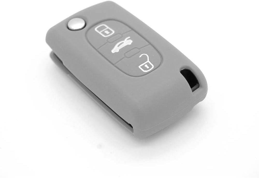 ASARAH Couvercle de cl/é en Silicone Premium Compatible avec Audi Couvercle de Protection pour cl/és de Voiture Couvercle pour Type de cl/é 3BKB-b Noir