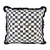 MacKenzie-Childs Courtly Check Ruffled Square Pillow 18'' x 18''