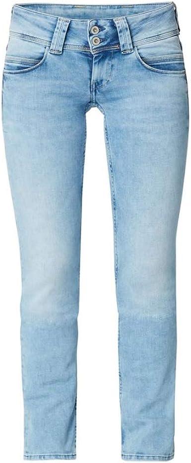 Pepe Jeans Venus Pantalones Vaqueros Para Mujer Color Azul Cintura Baja Longitud De Entrepierna L32 Azul Claro 32w Amazon Es Ropa Y Accesorios