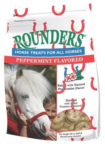 510xdyEcNBL - Peppermint Rounders Horse Treat 30 oz.