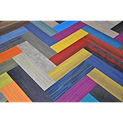 "Dean Affordable 36"" x 9"" Plank Commercial Carpet Tile - Random Assorted Colors - 45 Square Feet (20 Pieces)"
