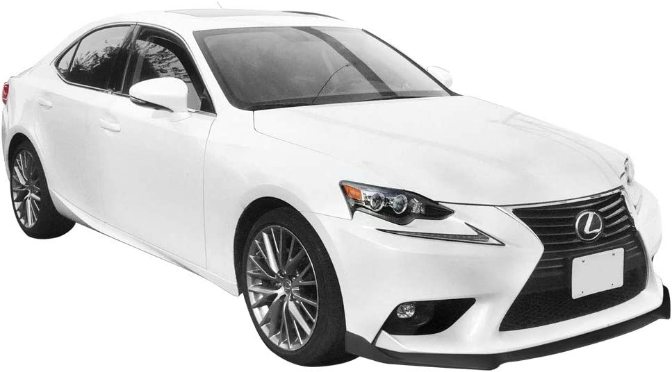 Front Bumper Lip Compatible With 2014-2016 Lexus IS Base 2015 Gloss Black Front Lip Under Air Chin Bodykit Spoiler Add On IKON MOTORSPORTS