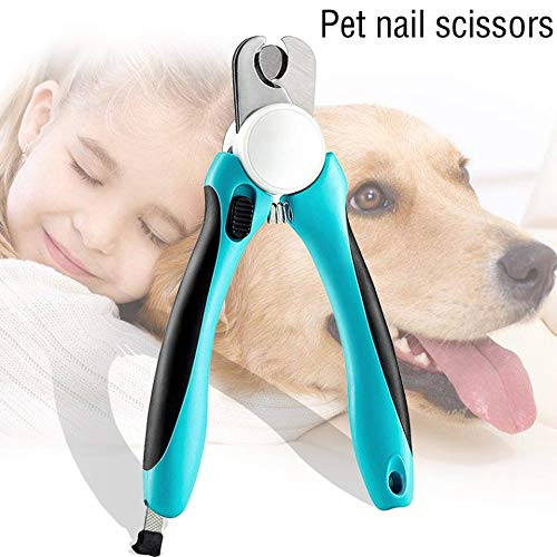 (VAXIUJA Dog Nail Clippers, pet Nail Scissors - Safety Bezel, Avoid Excessive Nail Cutting and Free Safety Nail File - Sharp Blade - Non-Slip Handle, Professional pet Grooming Tools.)