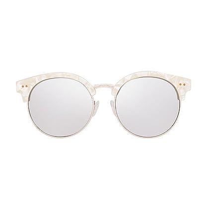 KAI LE Nuevas gafas de sol polarizadas marea femenina gafas de sol redondas cara con gafas