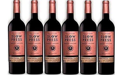 2015 Slow Press Cabernet Sauvignon Pack, 6 x 750 mL Red Wine