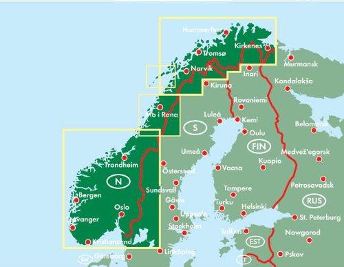 Noruega, mapa de carreteras. 1:600.000. Freytag & Berndt.: Wegenkaart 1:600 000 Auto karte: Amazon.es: VV.AA.: Libros