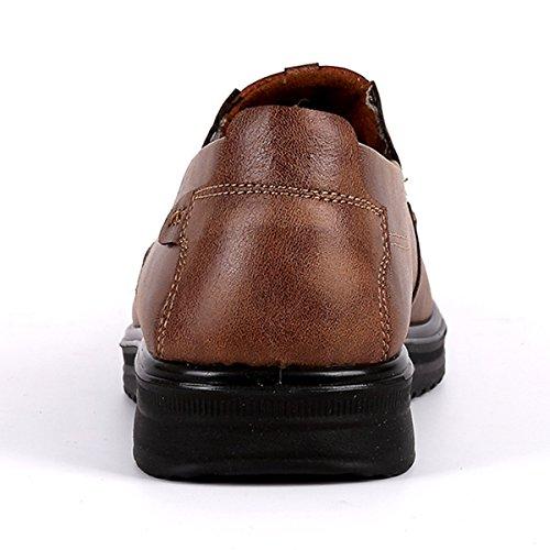 Gracosy Slip-on Shoes, Scarpe Da Uomo In Microfibra Di Pelle Antiscivolo, Scarpe Casual Da Passeggio Mocassino Kaki