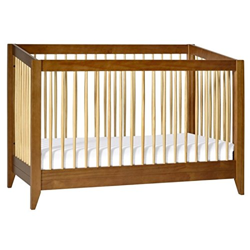 Babyletto Sprout 4-in-1 Convertible Crib, Chestnut/Natural