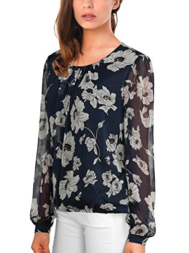 DJT Womens Korean Pleated Blouse