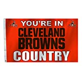 NFL Cleveland Browns NFL 3 X 5 Foot Country Flag with Grommets, Orange,