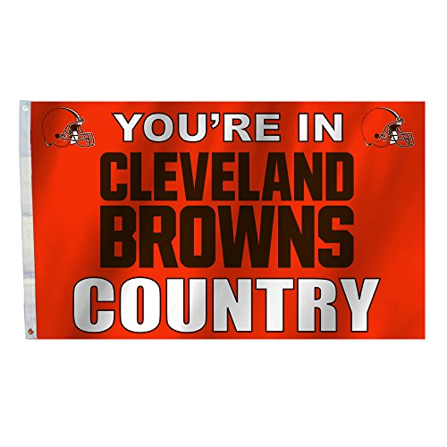 NFL 3 X 5 Foot Country Flag with Grommets, Orange, ()