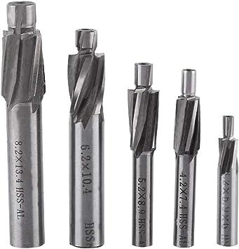 10X 2-10mm End Mill Set HSS 4 Blades Flute Milling Cutter Router CNC Drill Bit