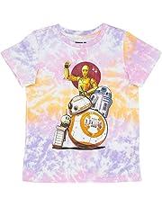 Star Wars Girls' Tie Dye T-Shirt - Tween Big Girl Short Sleeve Tee