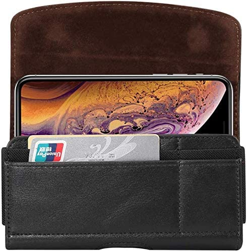 Razer Phone 2 LG Q Stylo+ Q60 Stylo 4 V20 OnePlus 7 7T 6T Universal Cell Phone Holder Belt Clip Holster Case Pouch with ID Card Slots For Samsung Galaxy S10+ S9 Plus S8 Plus A10 A10S A20 A50 J8 J6+