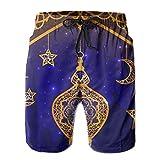 HFSST Ramadan Islam Religion Muslim Holiday Lamp Summer Swimming Trunks Beachwear Shorts