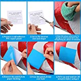 10 Pieces Self-Adhesive PVC Repair Patches, Vinyl