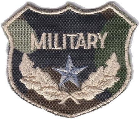 Militar Ejército Camuflaje escudo (Silver Star) hierro en Sew en bordado insignia apliques Diseño de parche de PatchWOW: Amazon.es: Hogar